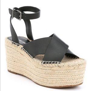 Gianni Bini Tybel espadrille black platform sandal